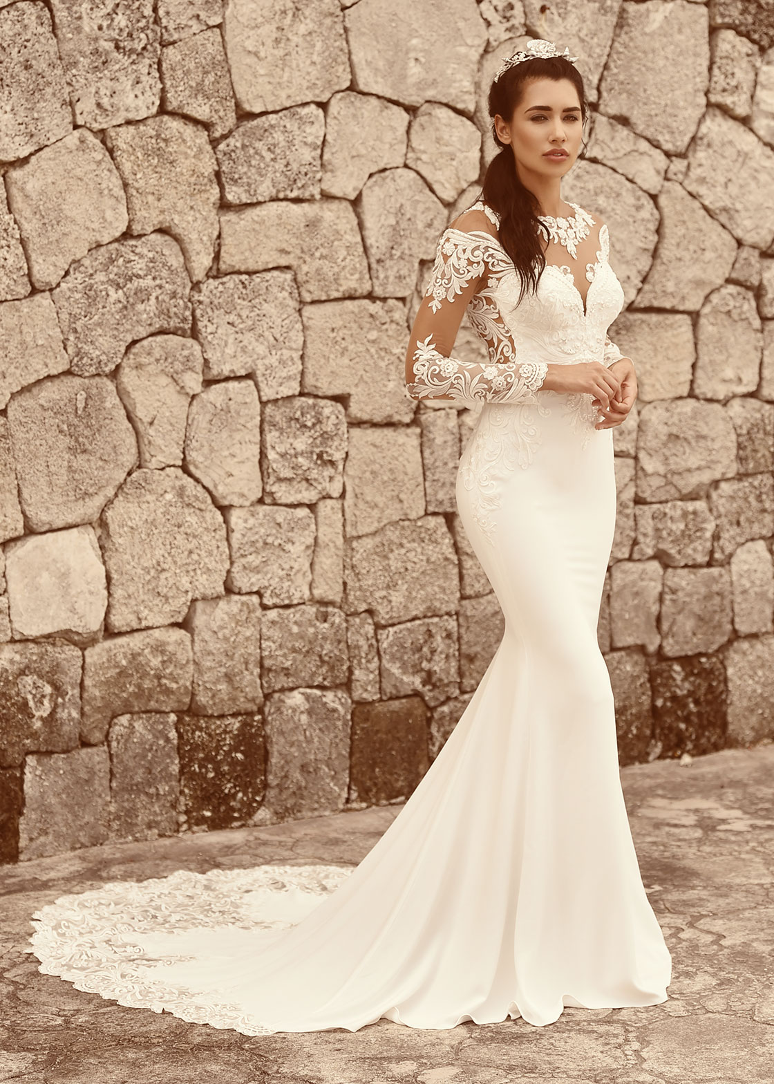Ivory Lace Sheath Dress